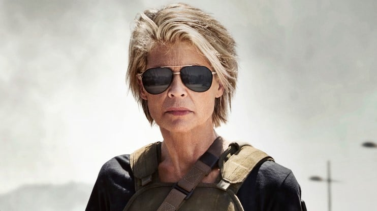 Linda Hamilton in Terminator: Dark Fate Trailer