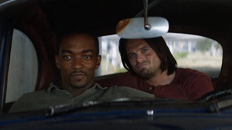 The Falcon And The Winter Soldier : Anthony Mackie and Sebastian Stan in a car