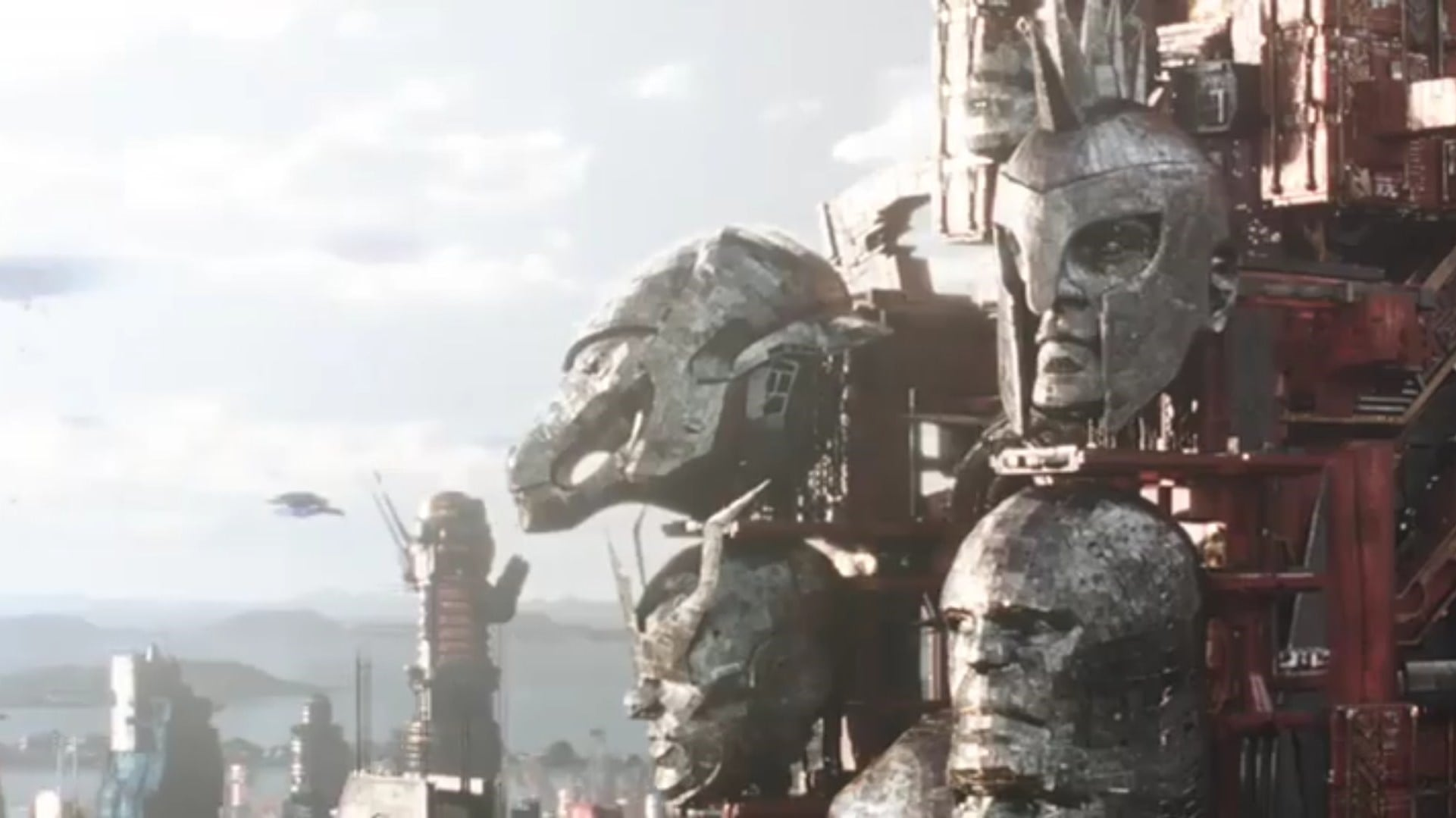 In Thor: Ragnarok, when Beta Ray Bill appears only as a monumental silver head.