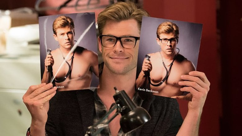 Chris Hemsworth in the 2016 'Ghostbusters'