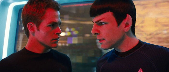 Kirk and Spock in Star Trek (2009)