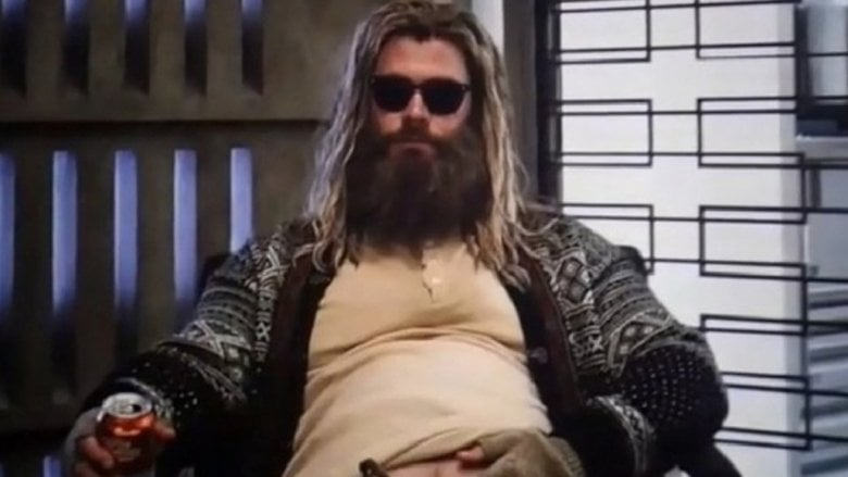 Chris Hemworth as  Out Of Shape Thor In 'Avengers: Endgame'