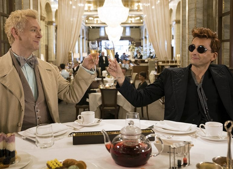David Tennant and Michael Sheehan in Good Omens