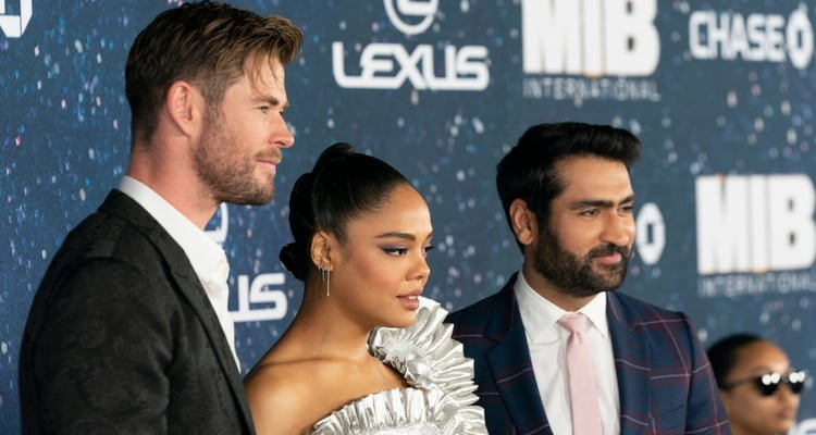 Chris Hemsworth, Tessa Thompson, Kumail Nanjiani Men in Black: International