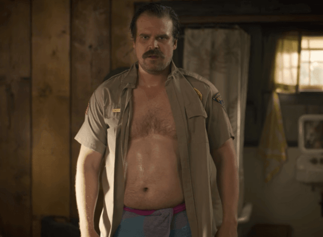 David Harbour and his dad bod