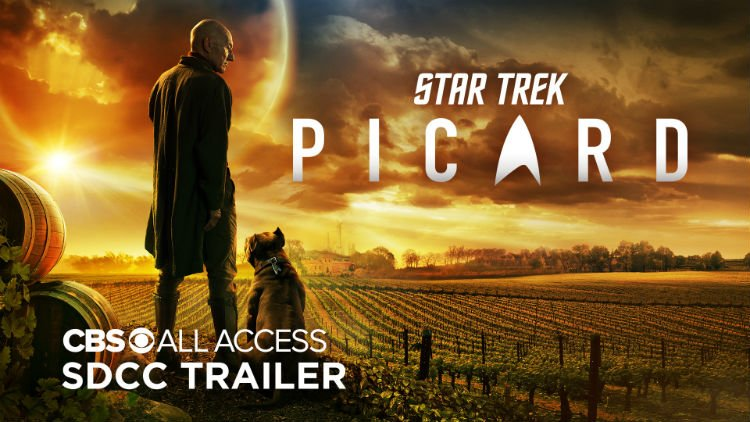 star trek picard logo shot