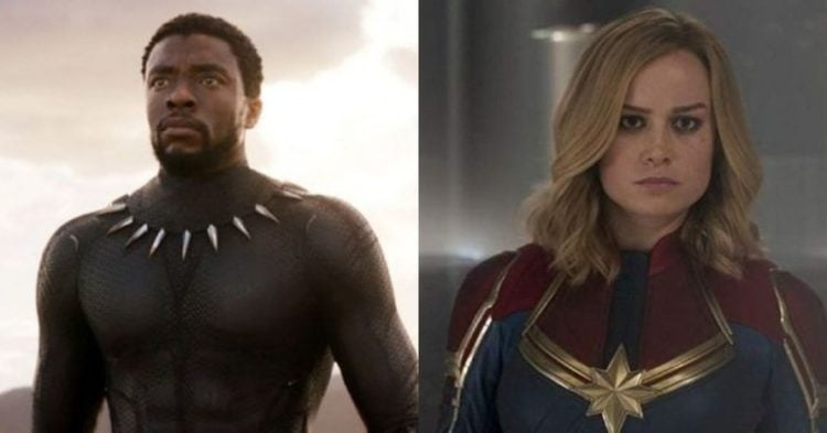 Black Panther and Captain Marvel
