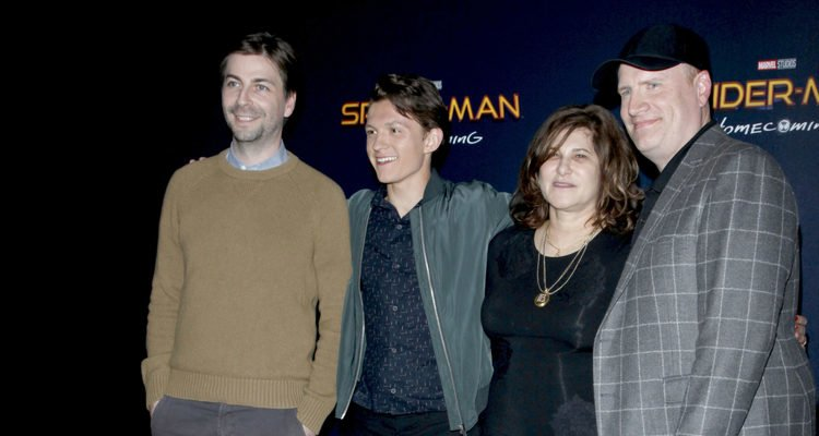 Jon Watts, Tom Holland, Amy Pascal, Kevin Feige