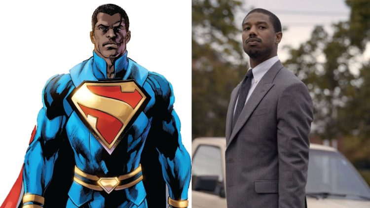 Michael B. Jordan as Superman concept art