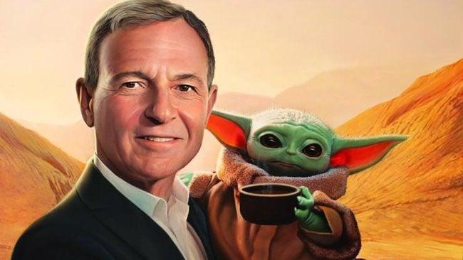 Bob Iger with Baby Yoda