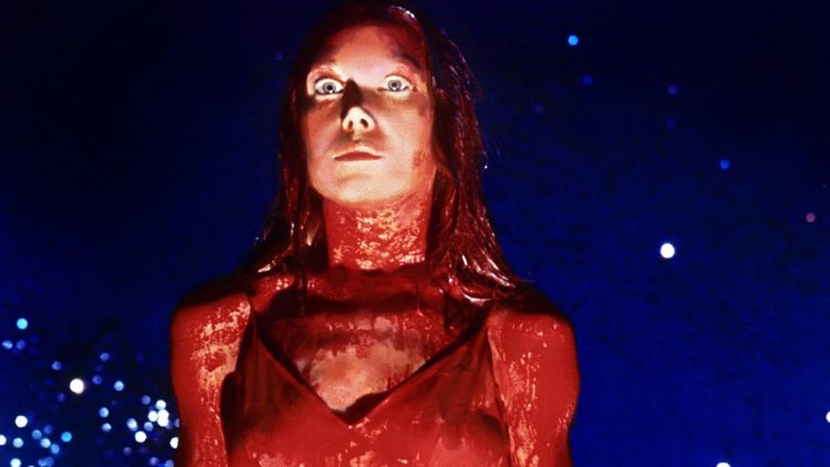Sissy Spacek covered in blood in Carrie