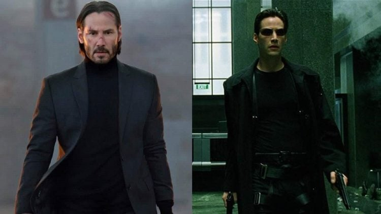 Keanu Reeves as John Wick and Neo