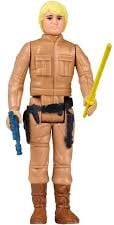 Luke Skywalker toy with a yellow lightsaber