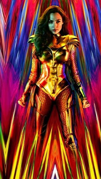 Kingdom Come armor seen in Wonder Woman 1984