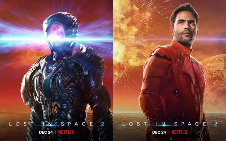 Lost in Space 2 (l) the Robot ; (r) Ignacio Serricchio as Don West