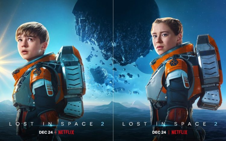 Lost in Space 2: (l) Maxwell Jenkins as Will Robinson (r) Mina Sundwall as Penny Robinson