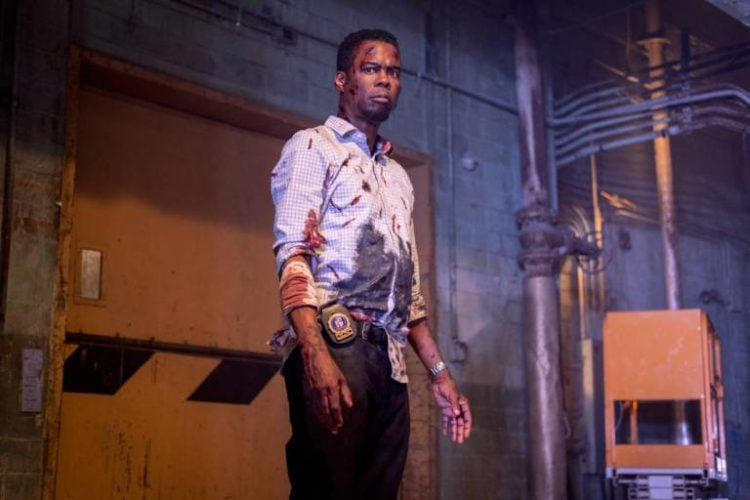 Spiral: From The Book Of Saw : Chris Rock injured and bloody