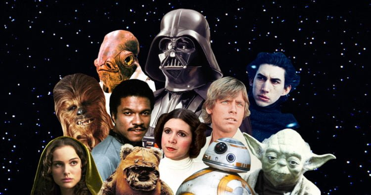 Star Wars characters from the entire franchise