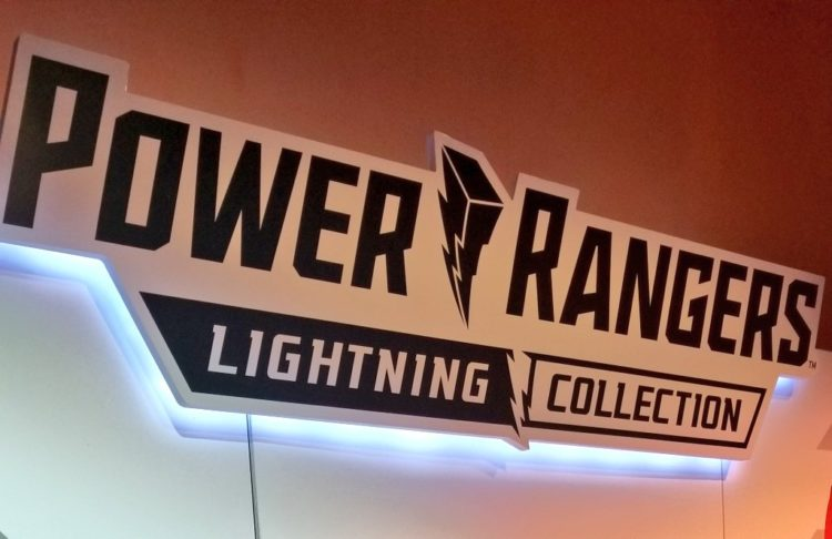 Power Rangers Lightning Collection sign