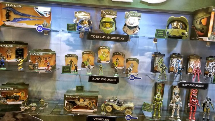 Halo display at Toy Fair 2020