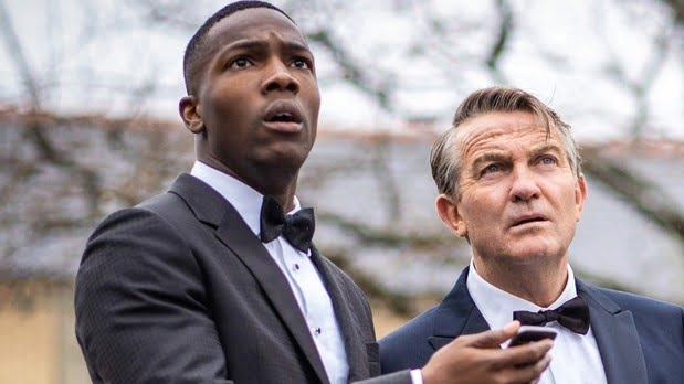 Tosin Cole And Bradley Walsh in Doctor Who episode 'Spyfall'