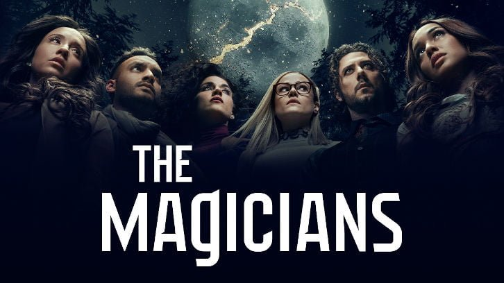 The Magicians cast with logo