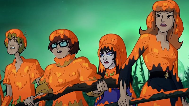 Bill Nye And Elvira Join Mystery Inc To Fight The Scarecrow In The Trailer For Happy Halloween Scooby Doo Sciencefiction Com